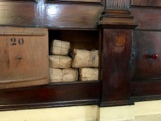 Packages of herbal ingredients